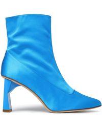 Tibi - Satin Ankle Boots - Lyst