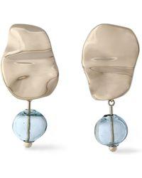 Proenza Schouler - Gold-tone Bead Clip Earrings - Lyst