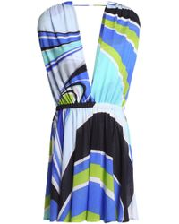 Emilio Pucci - Printed Cotton-blend Woven Coverup - Lyst