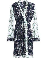 Equipment - Printed Washed-silk Wrap Dress - Lyst