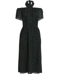 Vanessa Seward - Off-the-shoulder Printed Wool-gauze Dress - Lyst