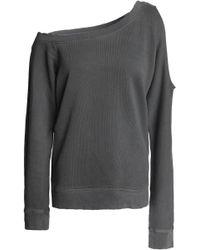 RTA - One-shoulder Cutout French Cotton-terry Sweatshirt - Lyst