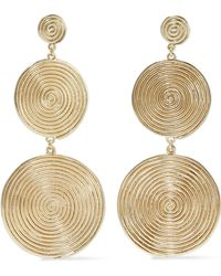 Elizabeth and James - Woman Gold-tone Earrings Gold Size -- - Lyst
