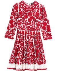 Dolce & Gabbana - Crocheted Cotton Mini Dress - Lyst