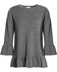 Madeleine Thompson - Ruffle-trimmed Wool And Cashmere-blend Sweater - Lyst
