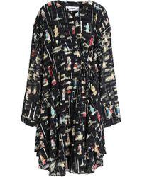 Chalayan - Ruffled Printed Fil Coupé Dress - Lyst