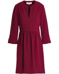 Vanessa Bruno Athé - Gathered Crepe Dress - Lyst
