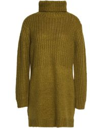 Michelle Mason | Panelled Ribbed-knit Turtleneck Sweate | Lyst