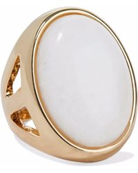 Kenneth Jay Lane - Gold-tone Stone Ring - Lyst