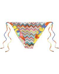 Missoni - Crochet-knit Mid-rise Bikini Briefs - Lyst