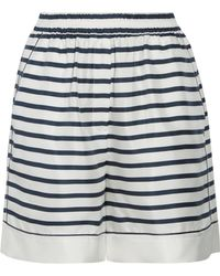 Dolce & Gabbana - Striped Silk-twill Shorts - Lyst