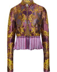 Etro - Tassel-trimmed Floral-jacquard Jacket - Lyst