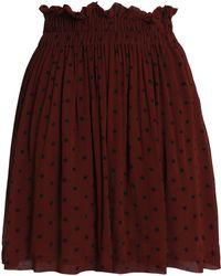 Ganni - Polka-dot Georgette Mini Skirt - Lyst