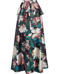 Sachin & Babi - Shruti Ruffled Floral-print Duchesse Satin-twill Maxi Skirt - Lyst