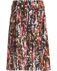 Marni - Woman Printed Silk Skirt Multicolour - Lyst