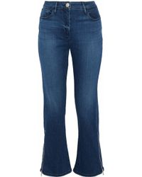 3x1 - Midway Zip-detailed High-rise Kick-flare Jeans - Lyst