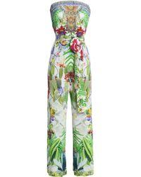 Camilla - Pritned Silk-crepe Jumpsuit - Lyst