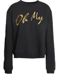 Visa Payment Sale Online Zoe Karssen Woman Metallic Embroidered Cotton-blend Terry Sweatshirt Black Size M Zoe Karssen Websites H9egOsF8KK