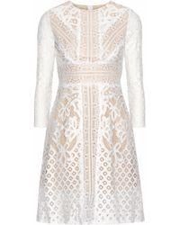 Raoul - Woman Lace Mini Dress White - Lyst