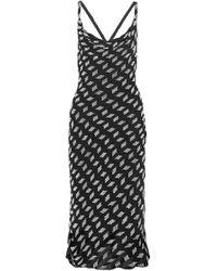 Cushnie et Ochs - Beaded Silk-chiffon Midi Dress - Lyst