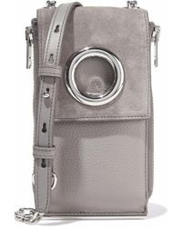 Alexander Wang - Riot Chain-embellished Suede And Pebbled-leather Shoulder Bag - Lyst