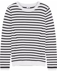 Iris & Ink - Tara Striped Cotton And Cashmere-blend Sweater - Lyst