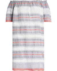 lemlem - Off-the-shoulder Embroidered Cotton Dress - Lyst