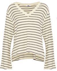 LNA - Brushed Lilia Striped Stretch- Sweater - Lyst