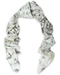Roberto Cavalli - Printed Modal And Silk-blend Scarf - Lyst
