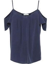 Joie - Cold-shoulder Washed Silk Top - Lyst