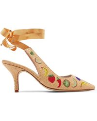 MR by Man Repeller - Embroidered Woven Court Shoes - Lyst