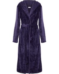 DKNY - Fleece Hooded Robe - Lyst