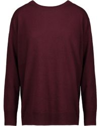 Sandro   Anita Wrap-effect Wool And Cashmere-blend Sweater   Lyst
