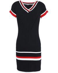 Raoul - Ribbed Intarsia-knit Mini Dress - Lyst