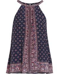 Joie - Printed Silk Top - Lyst