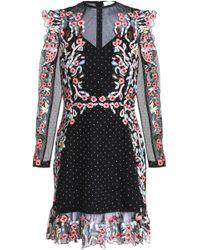 Rachel Gilbert - Alvida Ruffled Embroidered Organza Mini Dress - Lyst