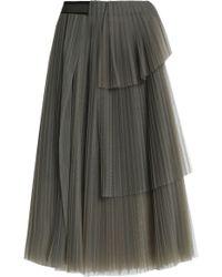 Brunello Cucinelli - Layered Pleated Tulle Skirt - Lyst
