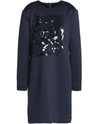 DKNY - Embellished Scuba Mini Dress - Lyst