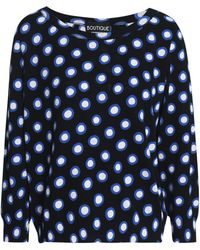 Boutique Moschino - Printed Cotton Jumper - Lyst