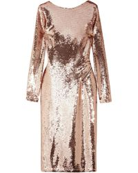 Tom Ford - Zip-detailed Sequined Satin Midi Dress - Lyst