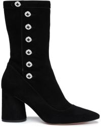 Marc Jacobs - Button-detailed Suede Ankle Boots - Lyst