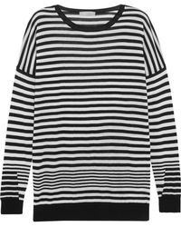 Vince | Striped Cotton, Silk And Cashmere-blend Sweater | Lyst
