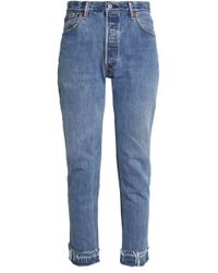 Levi's - Distressed High-rise Slim-leg Jeans - Lyst