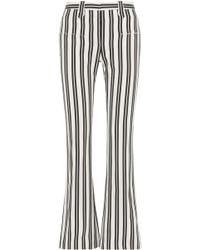 Altuzarra - Striped Wool-blend Flared Pants - Lyst