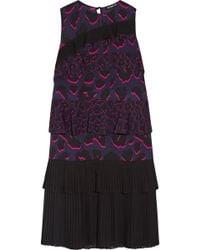 Markus Lupfer - Tiered Ruffled Leopard-print Silk-georgette Dress - Lyst