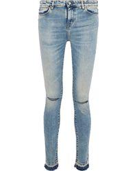 IRO - Esra Distressed Mid-rise Skinny Jeans - Lyst