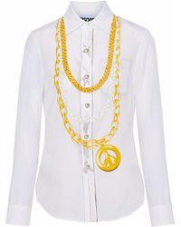 Moschino - Printed Silk Shirt - Lyst