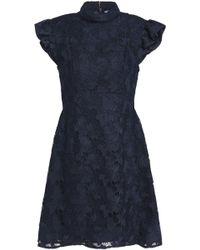 Rachel Zoe - Lace Turtleneck Mini Dress - Lyst
