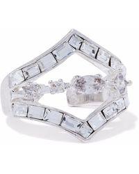 Luv Aj - Silver-tone Crystal Ring - Lyst