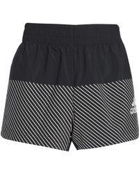 adidas - Woman Striped Shell Shorts Black - Lyst